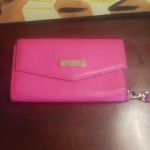 Kate Spade pink wristlet wallet